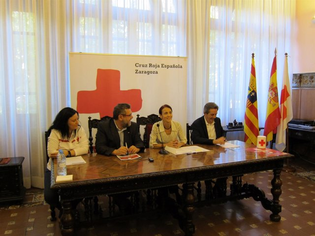 Presentación del opertativo de Cruz Roja  para las Fiestas del Pilar 2015