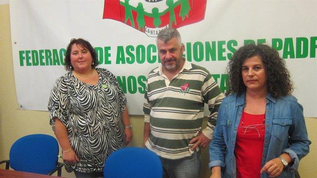 Representantes de FAPA Cantabria