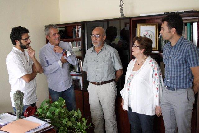 Visita de la Universidad de Perú a la UJA