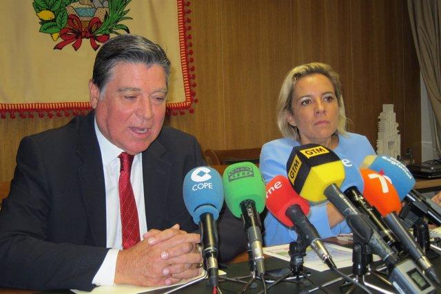 Claver y Martínez-Cachá en rueda de prensa en el Sindicato