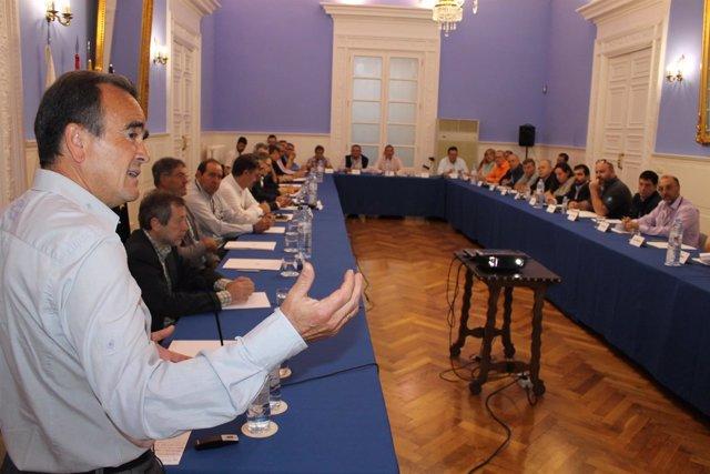 Sánchez Quero en la reunión con los alcaldes celebrada este martes