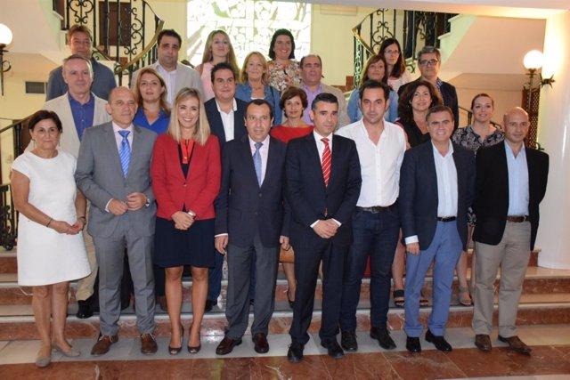 Comisión de coordinación delegados de la Junta en Marbella con alcalde Bernal
