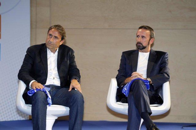 Luis Casimiro y Joan Plaza en la presentación de la Liga Endesa