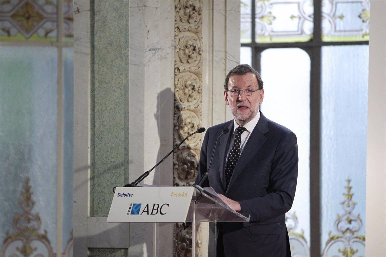Mariano Rajoy en el Foro ABC
