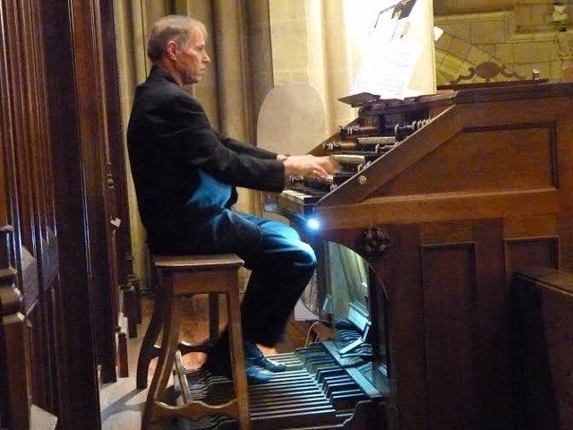 El organista alemán Christian Brembeck