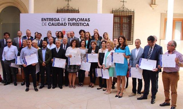 Entrega de diplomas del Sistema Integral de Calidad Turística en Destinos