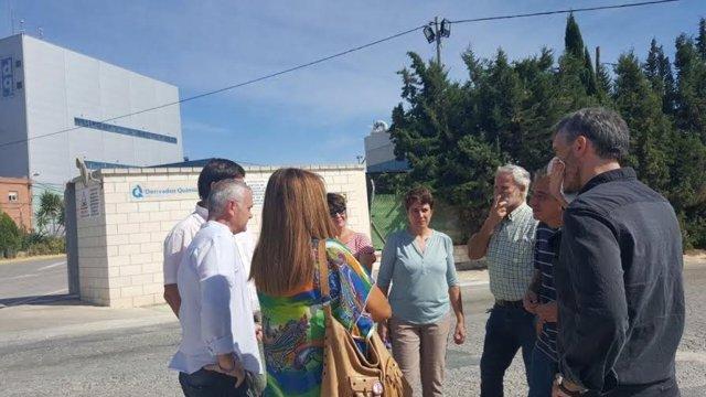 Visita de Podemos a Alcantarilla