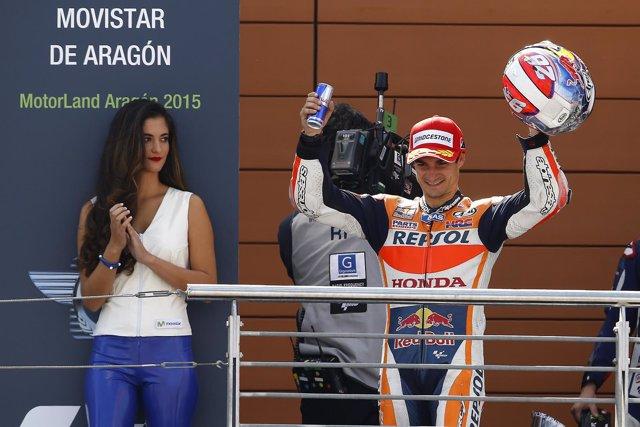 GP Áragon, Dani Pedrosa, podium