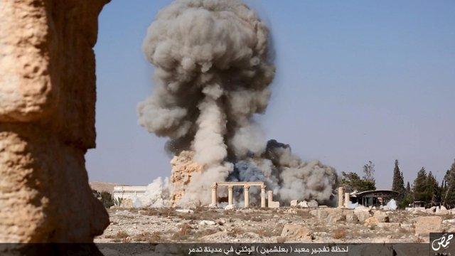 Destrucción templo Palmira