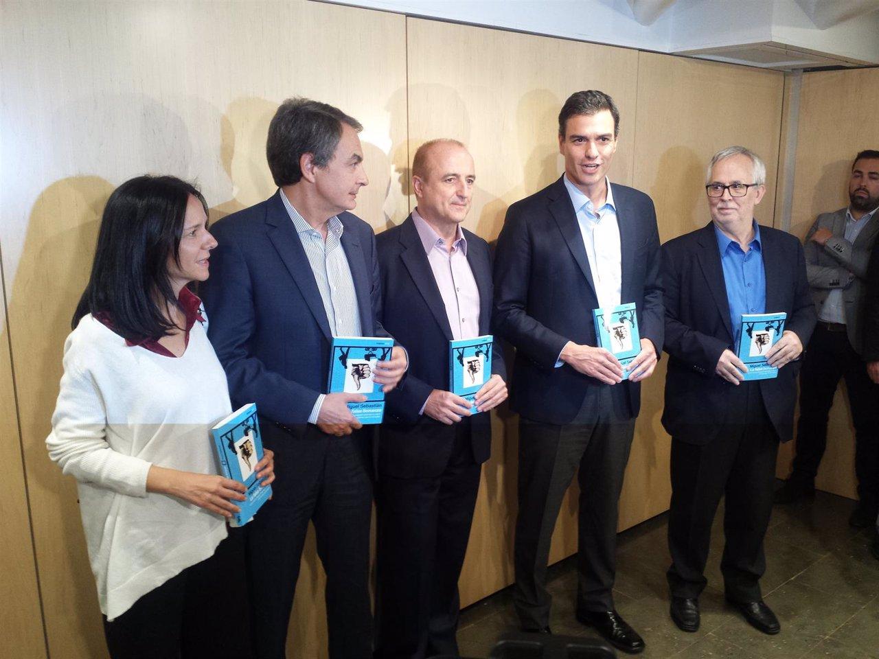 Zapatero y Pedro Sánchez presentan un libro de Miguel Sebastián