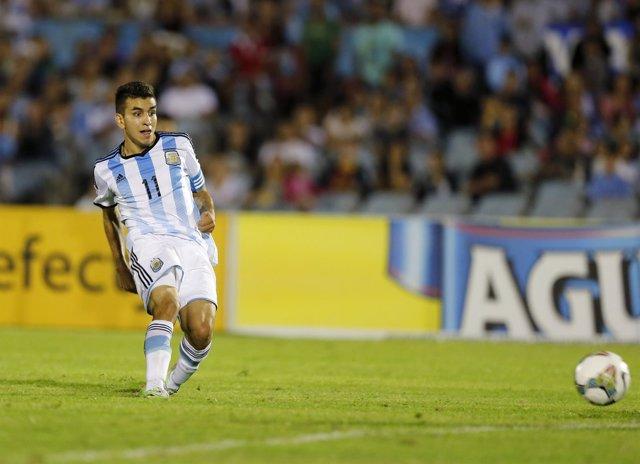 Ángel Correa con la selección argentina