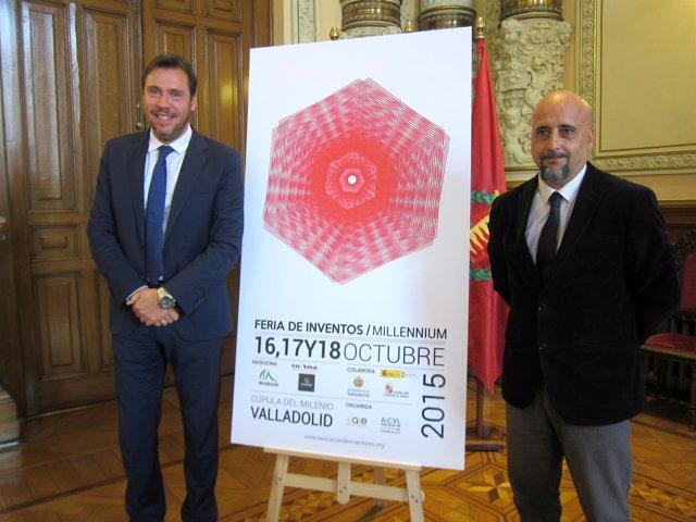 Oscar Puente (izda) junto al Enrique Villacé, portavoz de los inventores.