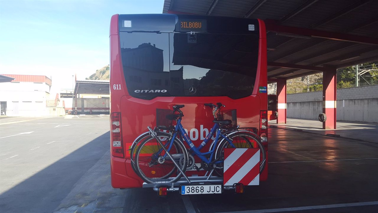 Portabicicletas en Bilbobus