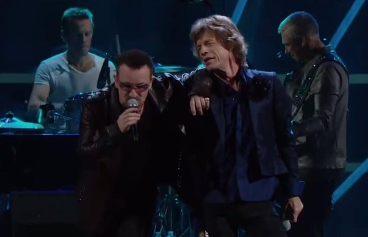 U2 y Mick Jagger