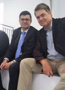 Visita del portavoz del PP-A en el Parlamento, Carlos Rojas, a Cádiar (Granada)