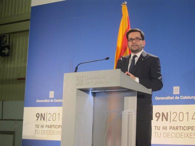 El secr.Asuntos Exteriores de la Generalitat, R.Albinyana