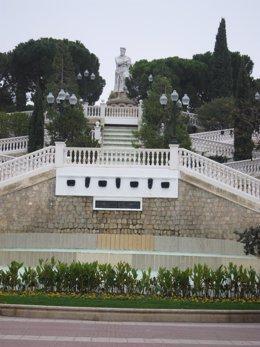 Escalinata Batallador Parque Grande Labordeta Zaragoza