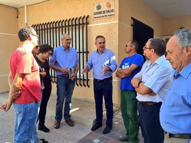 El secretario general del PSOE en la Región de Murcia en Villanueva