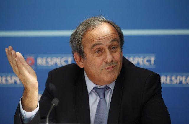 El presidente de la UEFA, Michel Platini