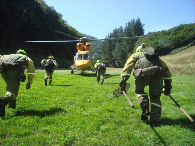 Brigada Refuerzo incendios forestales BRIF