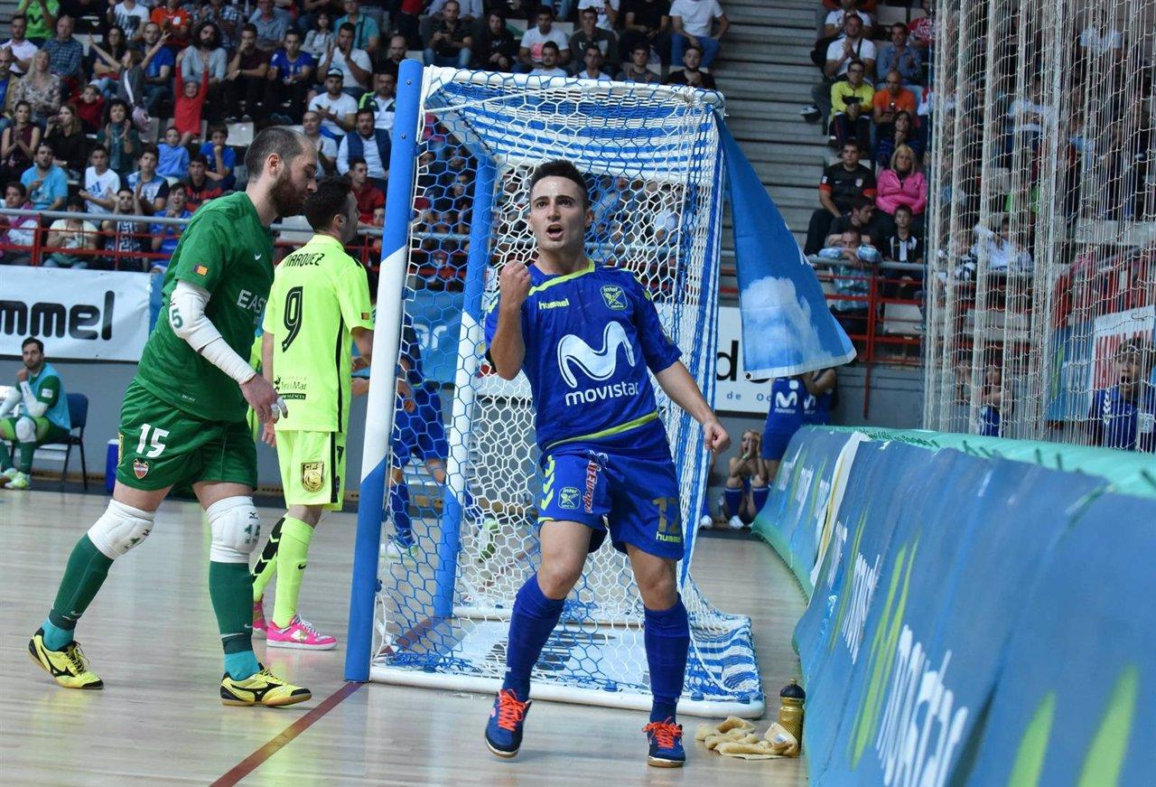 Borja, del Inter Movistar, celebra un gol en Liga