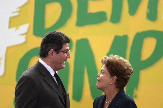 Joaquim Levy habla con Dilma Rousseff