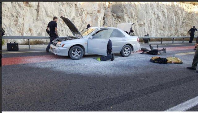 Atentado en Cirjordania contra puesto de policía israel