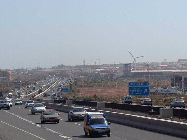 Autopista GC-1 a su paso por Arinaga