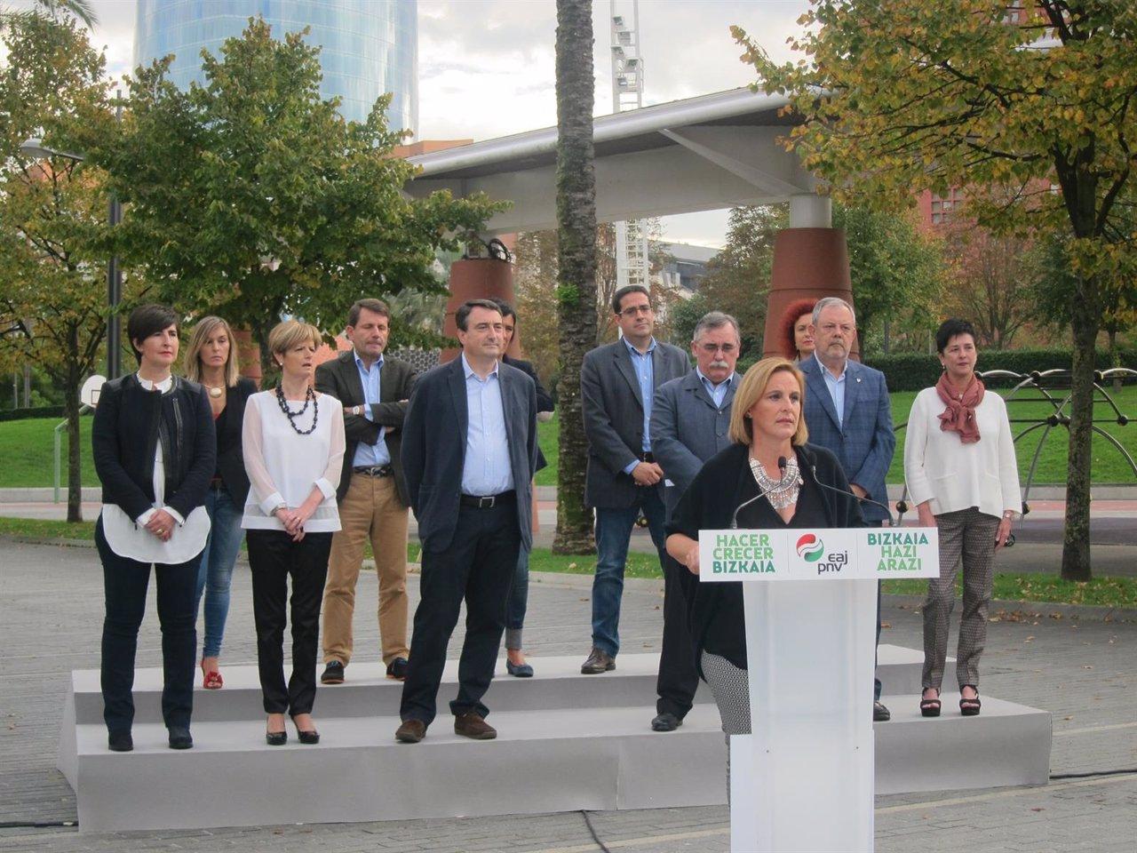 Presentación de los candidatos vizcaínos de PNV a Congreso y Senado