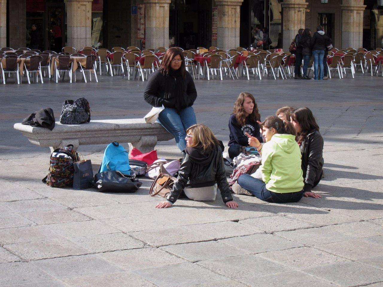 Estudiantes de español en Salamanca