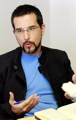 Sergio Pascual, de Podemos, en una entrevista a Europa Press