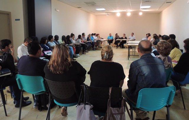 Reunión de un Consejo Local de Huelva
