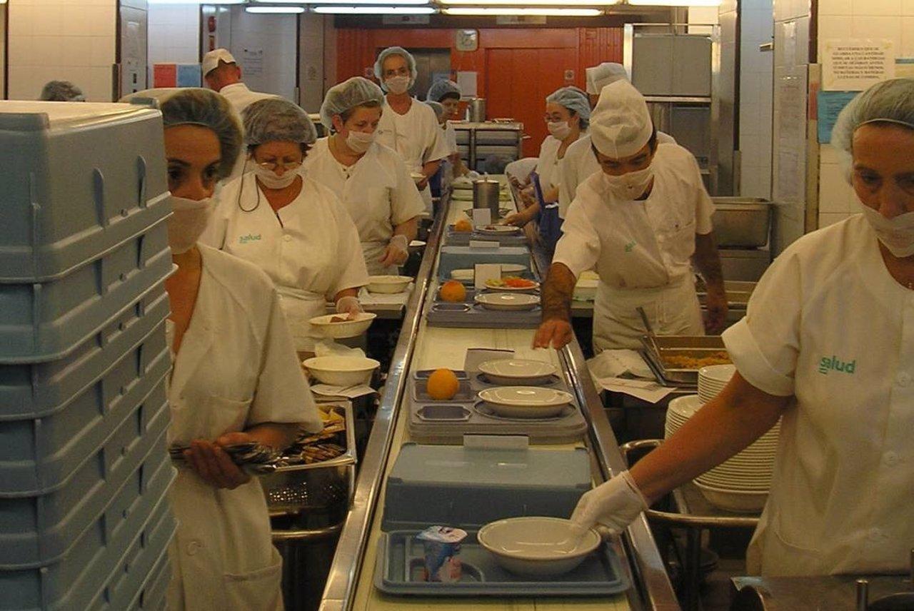 Los hospitales sirven un menú especial el día del Pilar.