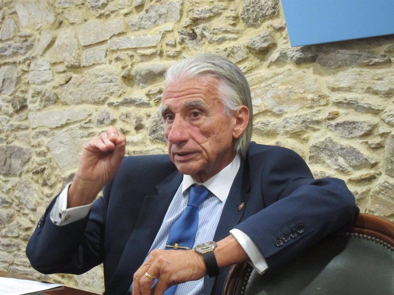 El presidente de la patronal gallega, José Manuel Fernández Alvariño