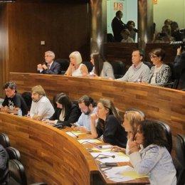 Diputados de Podemos en la Junta General de Asturias