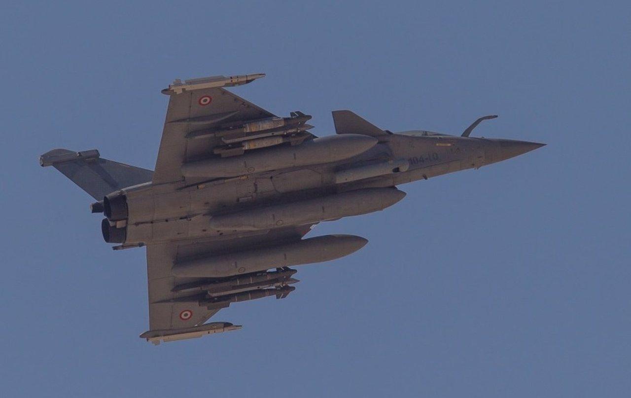 Avión de combate francés en Siria