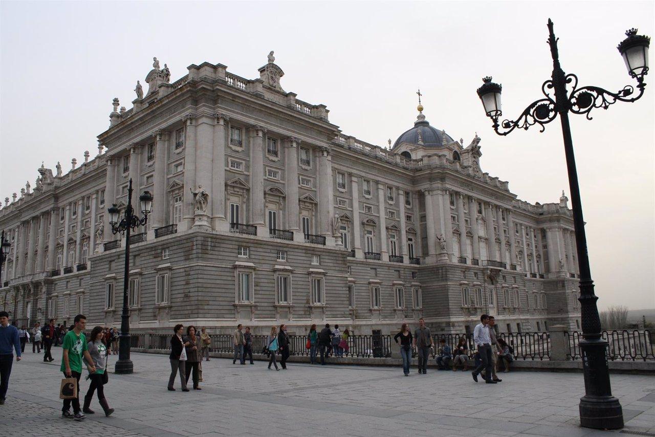 Palacio Real de Madrid, plaza de Oriente