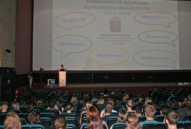 Acto de bienvenida a los 254 jóvenes auxiliares de conversación