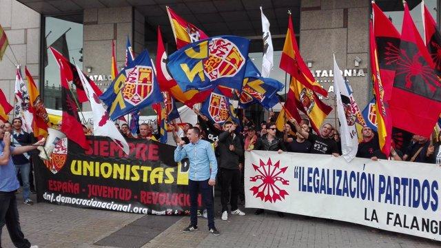 Manifestación del 12 de Octubre en Barcelona por la unidad de España