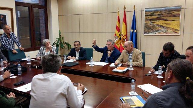 Reunión de Olona con organizaciones agrarias