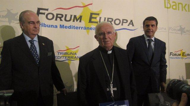 El Cardenal Arzobispo de Valencia ,Antonio Cañizares, en el Fórum Europa