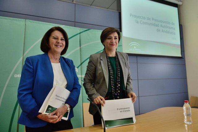 La consejera de Igualdad y la delegada de la Junta en Granada