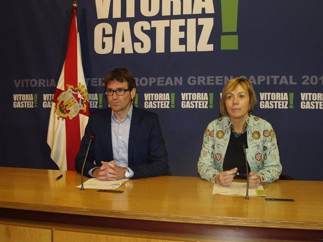 Acuerdo en Vitoria entre Gorka Urtaran (PNV) y Miren Larrion (EHBildu)