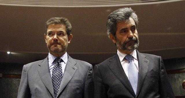 Rafael Catalá y Carlos Lesmes.