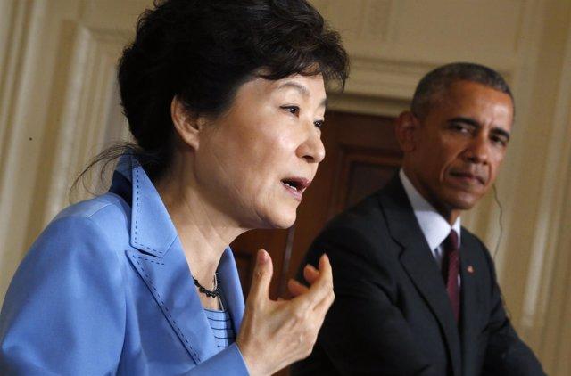 Park Geun Hye y Barack Obama se reúnen en la Casa Blanca