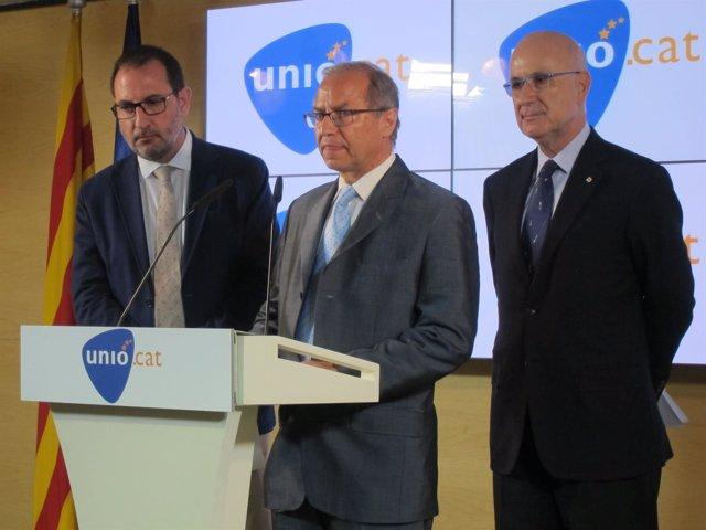 Ramon Espadaler, Josep Antoni Duran y Martín Rodríguez Sol
