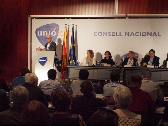Josep Antoni Duran, en el Consell Nacional de Unió