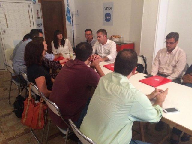 Visita de la secretaria general del PP andaluz a Bollullos del Condado