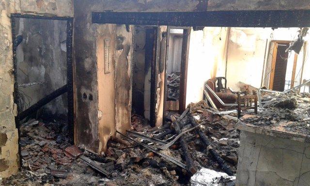 Incendio en una vivienda de Aibar