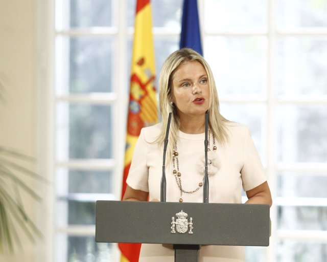 Mari Mar Blanco en la Moncloa en la entrega de la Medalla a Vidal-Abarca